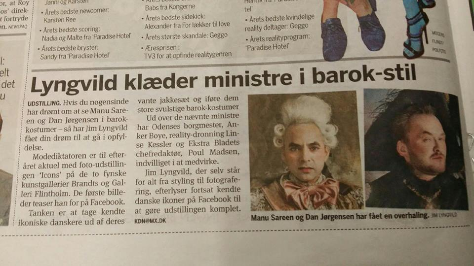 Lyngvild klæder ministre i barok-stil