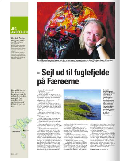 Gunleif Grube anbefaler fuglefjelde på Færøerne