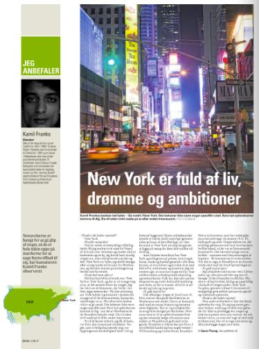 Kamil Franko anbefaler New York