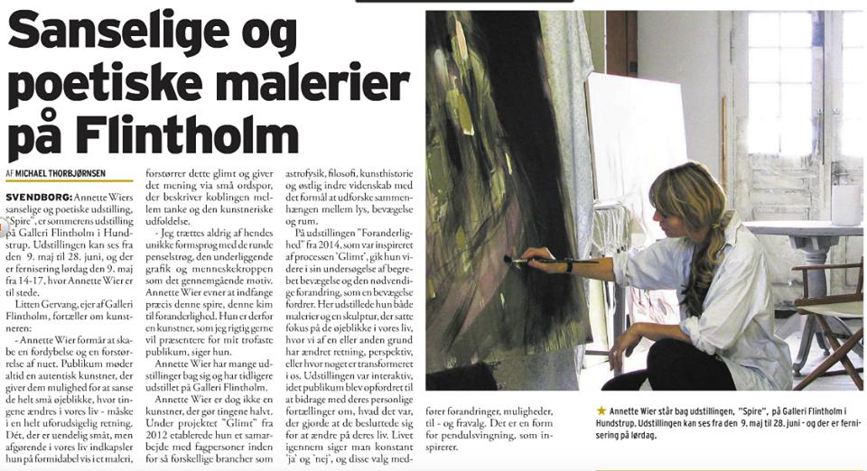 Sanselige og poetiske malerier på Flintholm