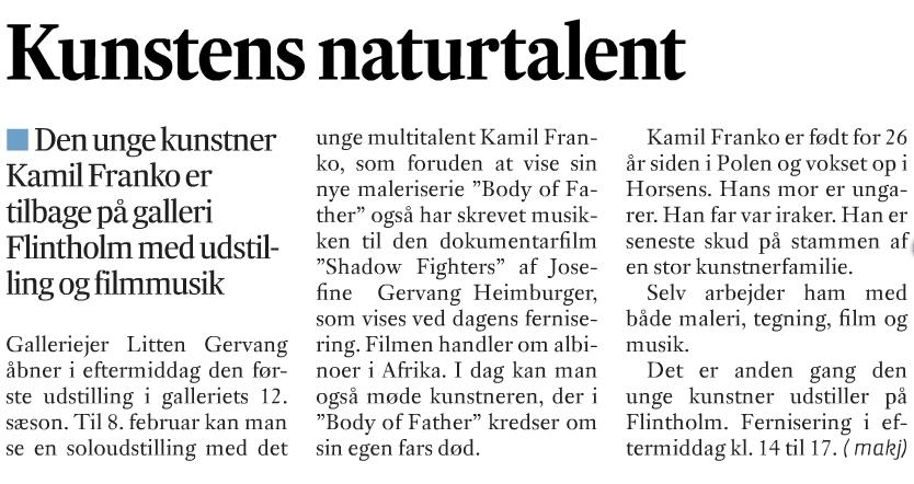 Kamil Franko: Kunstens naturtalent