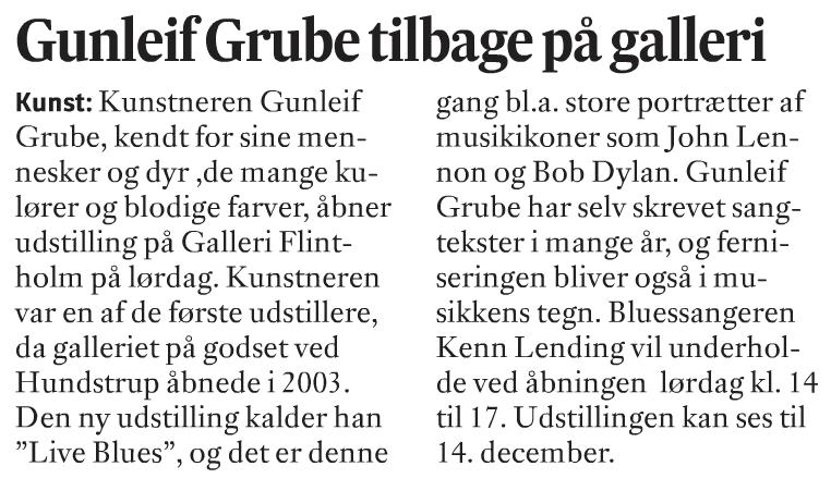 Gunleif Grube tilbage på Flintholm