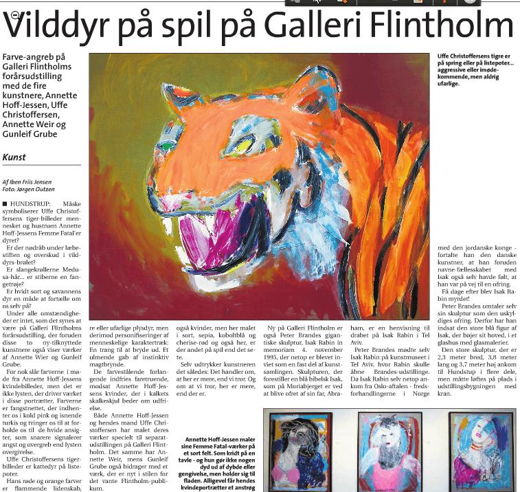 Vilddyr på spil på Galleri Flintholm