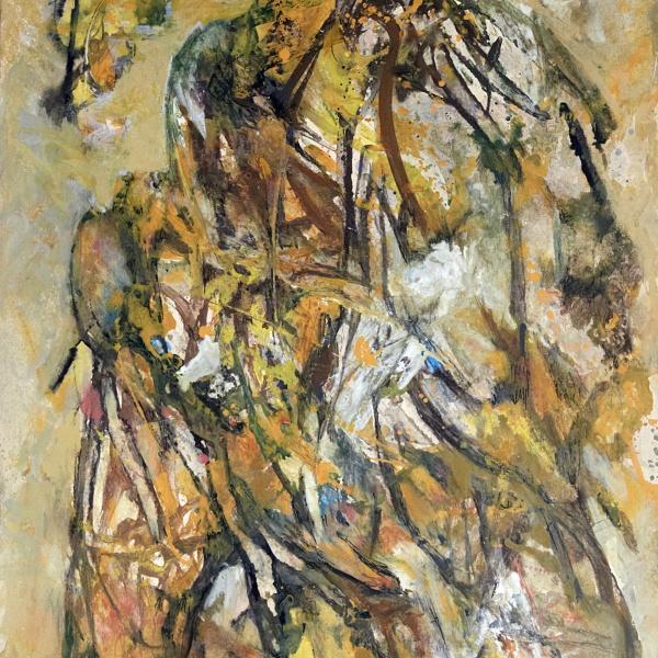 Pierré Wemäere (1913-2010) Uden titel, 1983 Olie på træ 63 x 48,5 cm